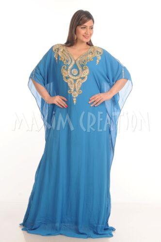GEORGETTE ABAYA KAFTAN DUBAI FARASHA HOME GOWN EVENING TEA DRESS MAXI ROBE 4798