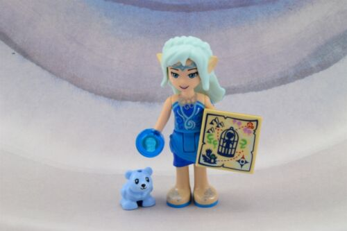 Lego Mini Figure Elves Naida Riverheart and Lil Blu Bear Cub from Set 41187 New