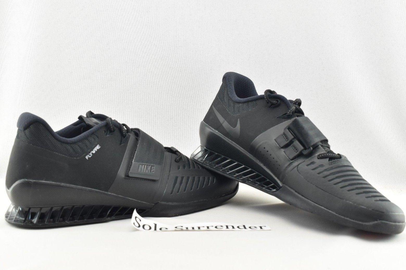 Nike Romaleos 3 - CHOOSE SIZE - 852933-004 Triple Blackout III Lifting Crossfit