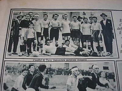 SAVOIA TORRE ANNUNZIATA CAMPIONE CAMPANO 1925 SU TUTTI GLI SPORTS RARA RIVISTA