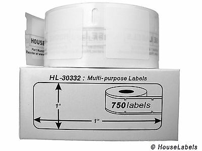 """1/"""" x 1/"""", 4 Rolls 30332 Dymo Compatible Address Shipping Plastic Poly Labels"""