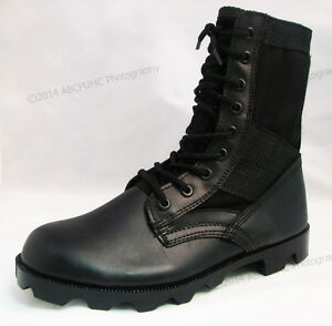 Men-039-s-Boots-Jungle-GI-Type-Black-Tactical-Combat-Military-Work-Shoes-Sizes-6-15