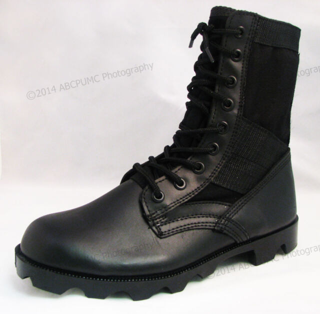 Men's Boots Jungle GI Type Black Tactical Combat Military Work Shoes, Sizes:6-14
