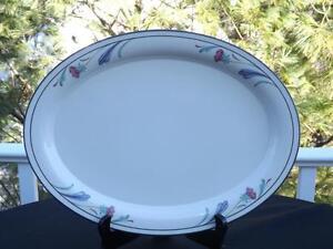 Lenox-Poppies-On-Blue-14-1-4-034-Oval-Platter-VGC