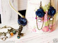 Party Jewelry Set Key Pendant Necklace & Hook Earrings Handmade Gift For Women