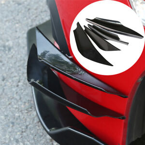 Glossy-Black-Car-Bumper-Fin-Canard-Splitter-Diffuser-Spoiler-Lip-Universal