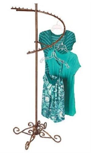 """Spiral Clothes Rack Clothing Display Retail Garment Fixture Copper 63/"""" x 26/"""""""