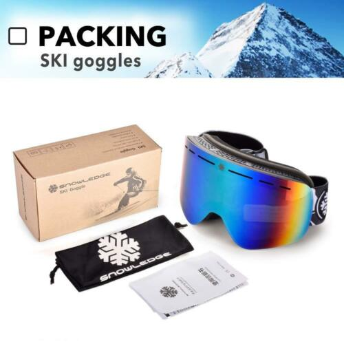 Ski Goggles Womens with Frameless Interchangeable Lens Skiing Snowboard Goggles