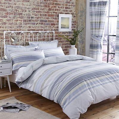 Bettwaren, -wäsche & Matratzen Analytisch Horizontal Texturiert Gestreift Blau 144 Tc Baumwollmischung Kingsize-bettbezug