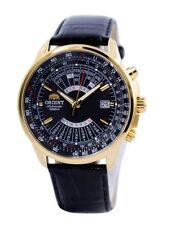 Orient Multi-Year Calendar FEU07009BH Black Dial Black Leather Band Men's Watch