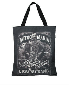 Liquor Brand Damen TATTOO MANIA Einkaufstasche.Tattoo,Biker,Pin up,Custom Style