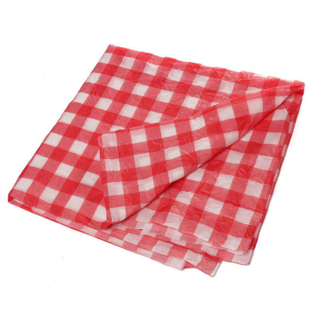 Gingham Plastic Temporary Disposable Check Table Cover Cloth Outdoor Picnic C