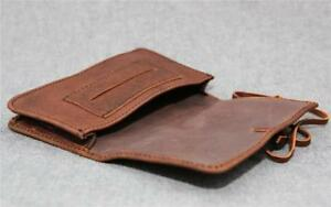 Handmade Buffalo Leather Tobacco Pouch TP-LP Wallet 50g string Billy Goat Design
