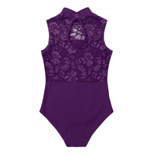 Girl Ballet Leotard Dress Gymnastics Bodysuit Dancewear Sleeveless Dance Clothes