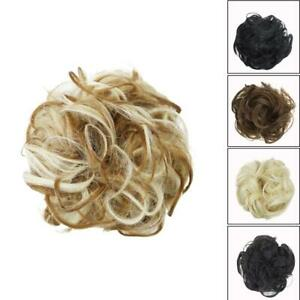 As-Human-Real-Messy-Rose-Bun-Curly-Easy-To-Wear-Stylish-New-Hair-Piece-Scru-J6Z6