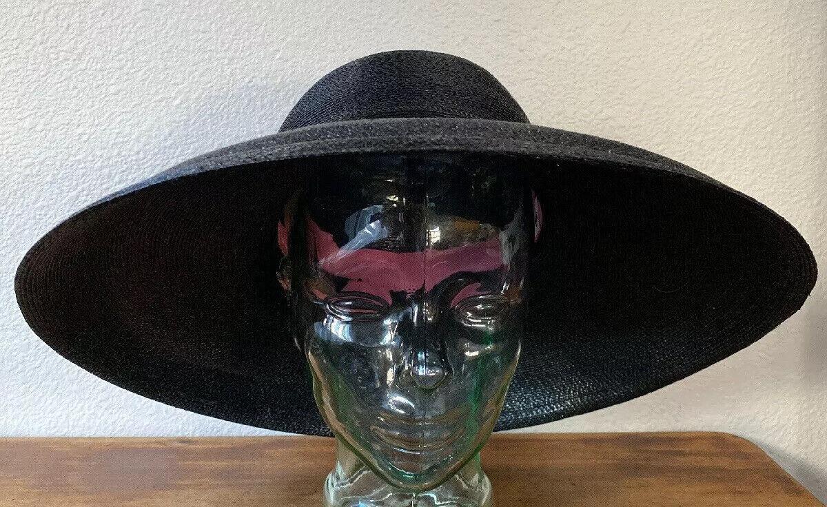 Vintage Amen Wardy Large Hat ! 1980's Large Brim … - image 3