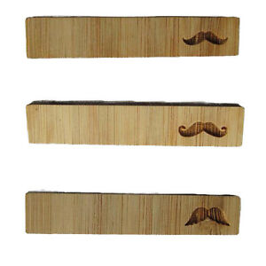 New Wooden Tie Clip Pin Bar Clasp Moustache Necktie Mens 55mm Wedding Fashion