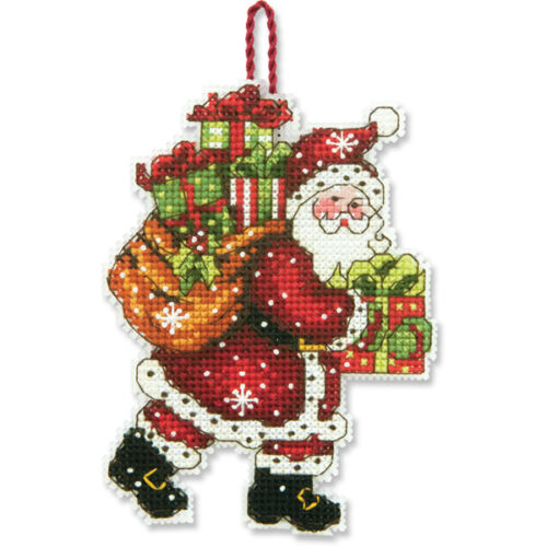 Counted Cross Stitch Kit SANTA WITH BAG ORNAMENT Susan Winget