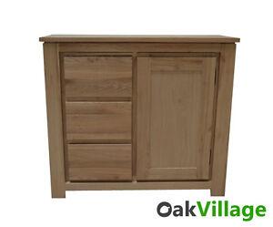 Oak-Small-Sideboard-Storage-Cupboard-Solid-Wood-Buffet-Table-New-Bloomsbury