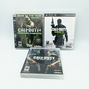 Call-Of-Duty-Black-Ops-Modern-Warfare-MW3-PlayStation-PS3-3-Game-lot-CIB