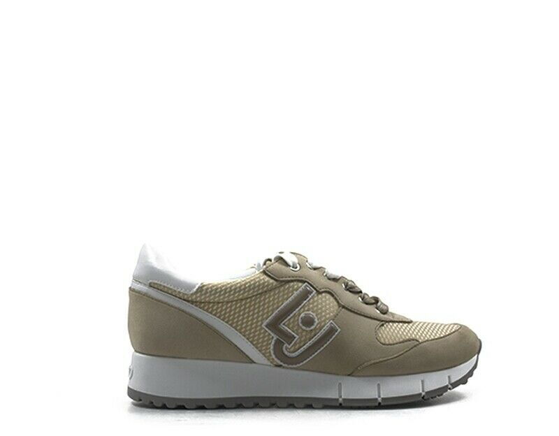 shoes LIU JO women Sneakers Trendy  BEIGE PU,Tessuto B19019PX02701127