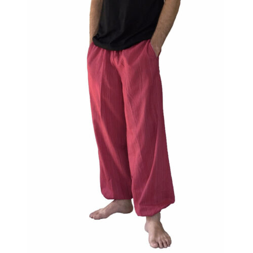 Baggy Harem Pants Mens Summer Cotton Loose Hippie Boho Yoga Trousers Ali Baba
