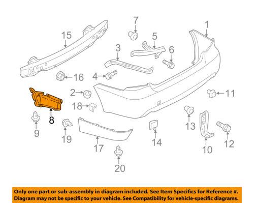 SUBARU OEM 08-11 Impreza Rear Bumper-Guide Right 57731FG070