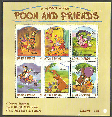 Caribbean The Cheapest Price Antigua Sc# 2149-2150 Mnh Fvf Set-2x Sheetlet Disney Winnie The Pooh Tigger Antigua & Barbuda (1981-now)