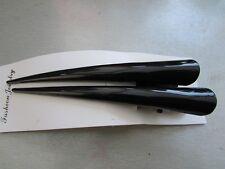 Pack 2 black concorde beak hair clips 13cm metal slides grips clip plain enamel