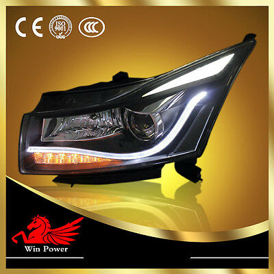Headlight Assembly For 2009-2011 Chevrolet Cruze Angel Eye Bi-xenon Projector