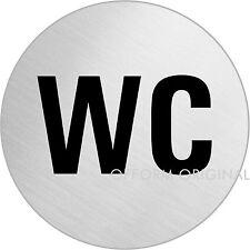"""OFFORM Türschild l Toilettenschild l """"WC Text"""" l Ø 75 mm l Nr.8480"""