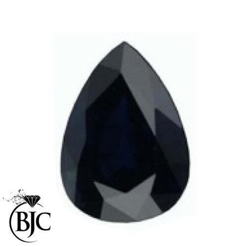 BJC® Loose Natural Blue /& Black Sapphires All Pear Cut Multiple Size Choices
