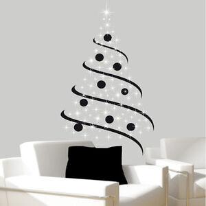 sticker mural sapin de no l bi colors choix taille et couleur ebay. Black Bedroom Furniture Sets. Home Design Ideas