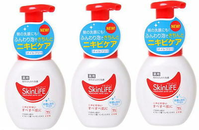 Cow Soap☀Japan-SkinLife Medicated Acne Care Bubble Cleansing Foam 200mL ×3P set.