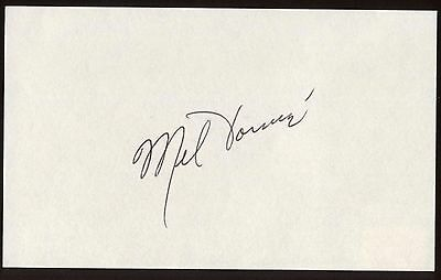 In Quality Mel Torme Signed Index Card Signature Autographed Vintage Auto Excellent