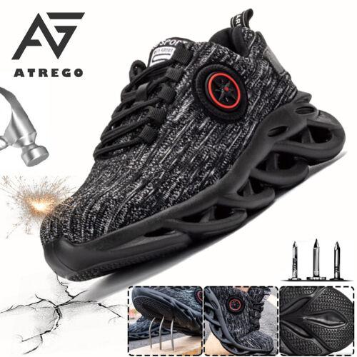 AtreGo Herren Sicherheitsschuhe Sportschuhe Laufschuhe Wandern Stahlkappe Schuhe