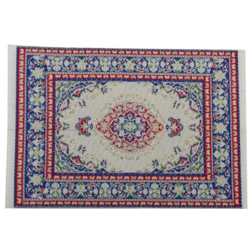 Dollhouse furniture miniature woven carpet multicolor carpet X1D2