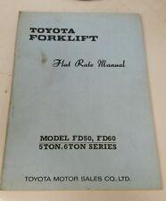 Toyota Forklift Fd50 Fd60 Flat Rate Manual