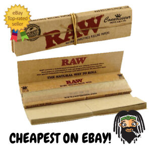 RAW-Connoisseur-King-Size-Slim-Organic-Unbleached-Rolling-Papers-w-Roach-Tips