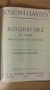Candide Haydn: Concerto Pour No 2 In (environ 5.08 Cm) Sol Mineur Pour Violon Et Piano: Musique-afficher Le Titre D'origine Doux Et Doux