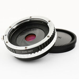 Focal-Reducer-Speed-Booster-Adapter-Canon-EOS-EF-Objektiv-fuer-Sony-NEX-aperture