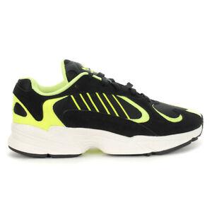 Adidas Men's Yung-1 Core Black/Core Black/Hi-Res Yellow Shoes EE5317 NEW