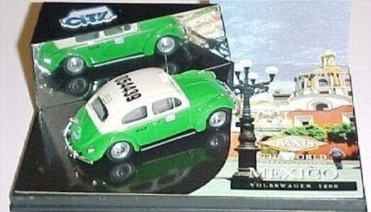 VERY SCARCE VITESSE CITY VW BEETLE MEXICO CITY TAXI 1 43 LTD EDT MINT IN BOX