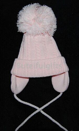 Bébés Garçons Filles Espagnol Style Grand Pompon traditionnel Cable Hat