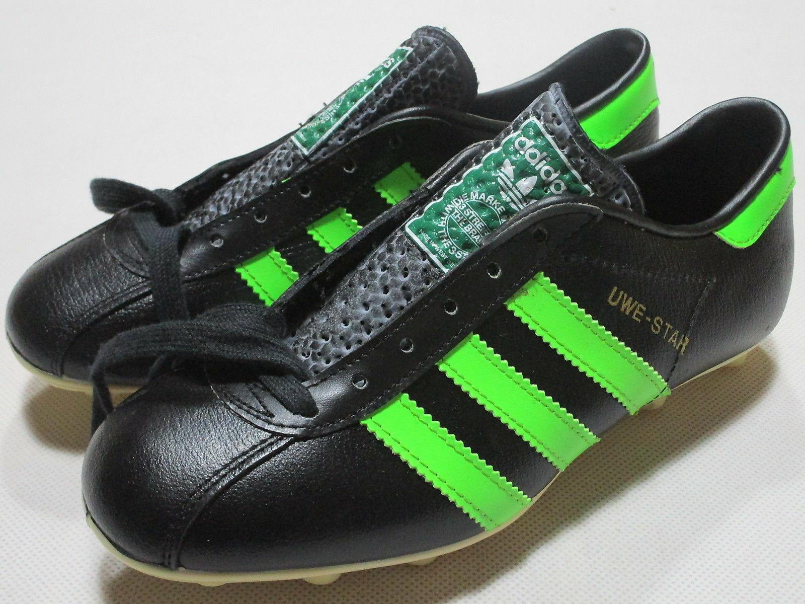 Adidas Uwe-Star  Fussball Schuhe Soccer schuhe Fussball West Germany Seeler 80s 4  | Fuxin