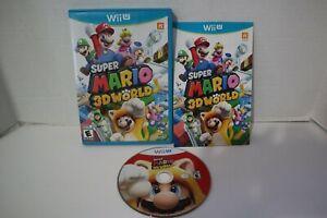 Super Mario 3D World (Nintendo Wii U, 2013) Complete, original blue box release