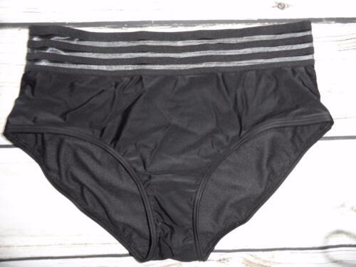 K59 New Look Mix /& Match Black Mesh Insert High Waist Bikini Bottom