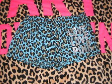 New Victoria's Secret Pink  Leopard Sleep Shorts size Medium M with Bling