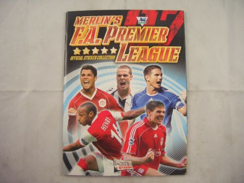 Merlin F A Premier League 07 Sticker Album empty
