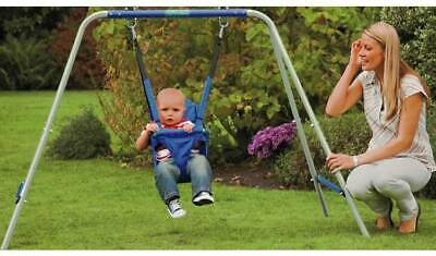 2 in 1 Kids Swings Toddlers Infant Safety Belt In Outdoor Activity Fun Garden